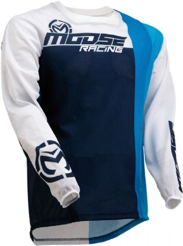 Moose Racing S20 Sahara MX Motocross Off Road Jersey White / Navy / Yellow